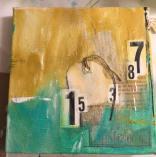 Mixed Media 6x6 cradled canvas