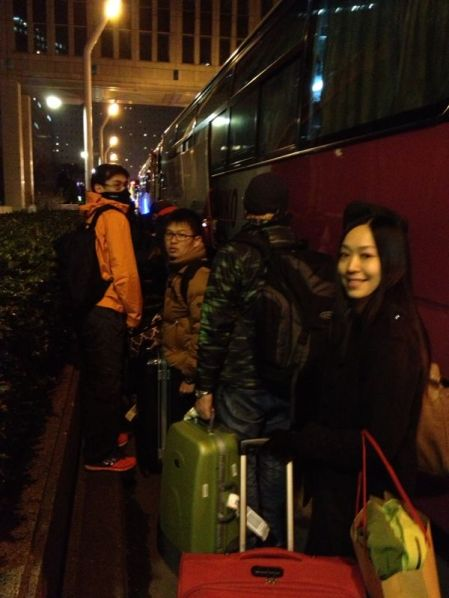 Getting on Overnight Bus from Shinjuku