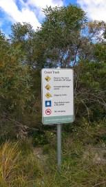 Coast Track: Rules Sign