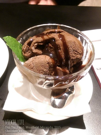Din Tai Fung Miranda: Chocolate Ice Cream