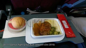 QF117 Qantas Q-Eat: Duck option