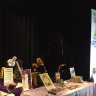 Booth on the stage VIP Psychic Medium Readings with Vickie Gay