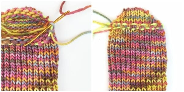 Loom SOck collage