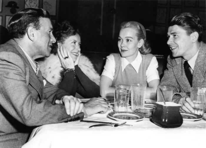 George and Gracie Burns Jane Wyman Ronald Reagan