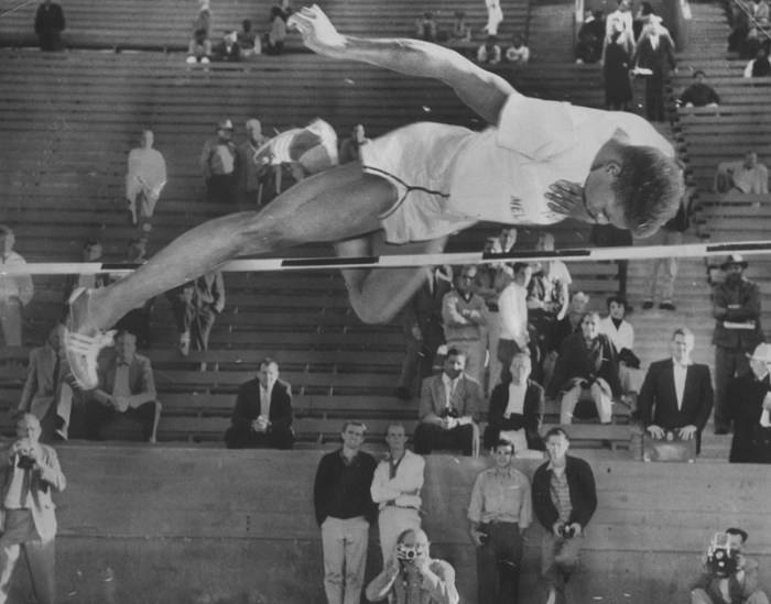 1956 photo art warden Charlie Dumas clears 7ft
