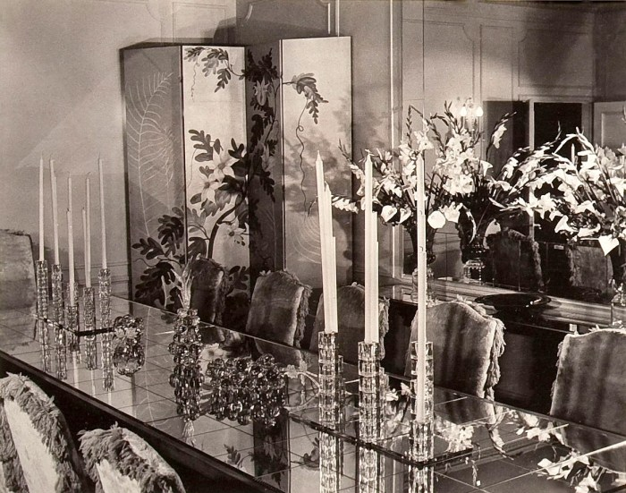 Basil Rathbone dining room