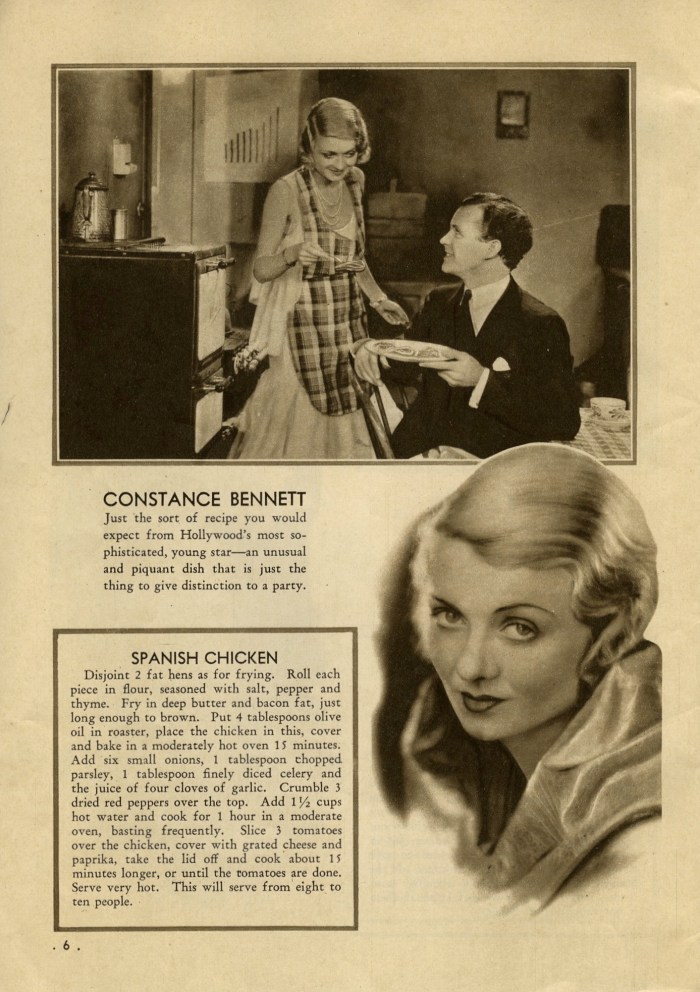 constance bennett's spanish chicken