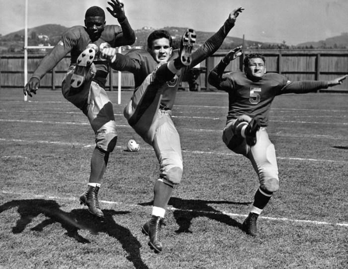 1939 Jackie Robinson, Charley Fenenbock and Bill Overlin UCLA