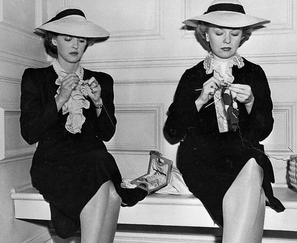 Bette Davis and Her Stand-In Sally Sage