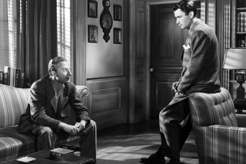 Norman Lloyd and Gregory Peck in Spellbound 1945