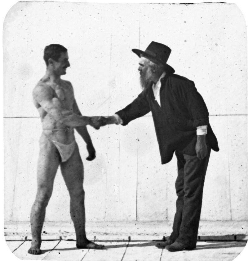 Muybridge working with Athlete