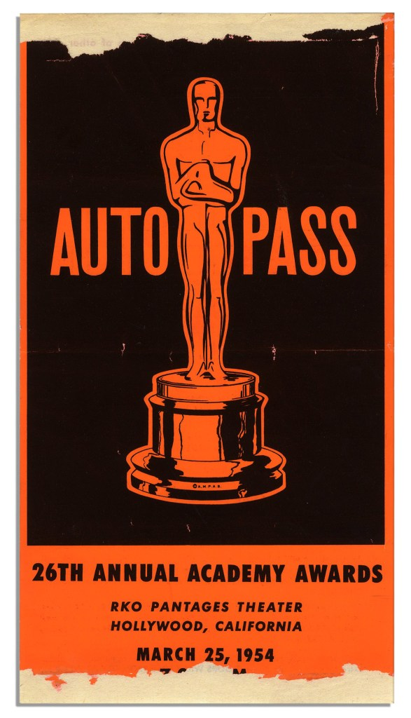 26th Awards parking pass