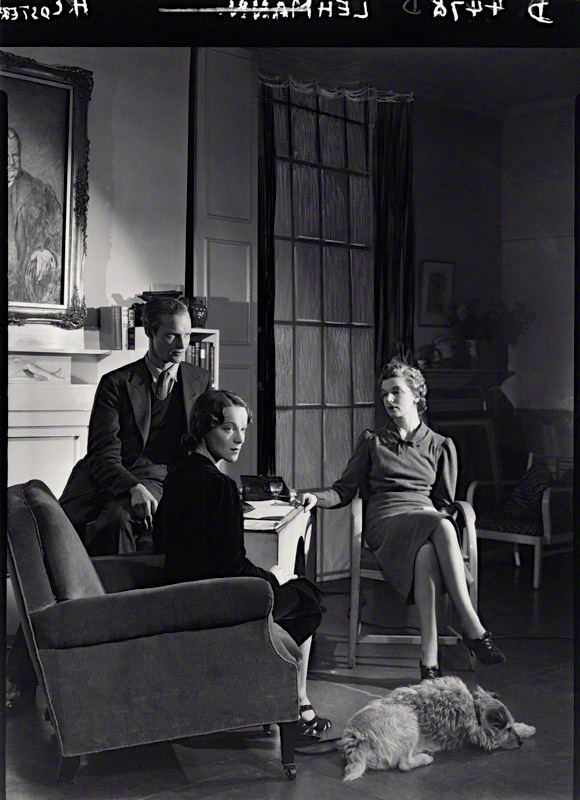 ©National Portrait Gallery John Frederick Lehmann; Beatrix Lehmann; Rosamond Nina Lehmann by Howard Coster 1938