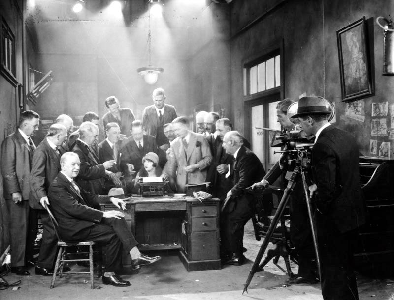 1920 journalists on film set (1)