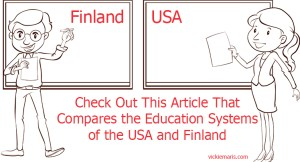 Graphic for article about Comparing Education Systems of USA and Finland