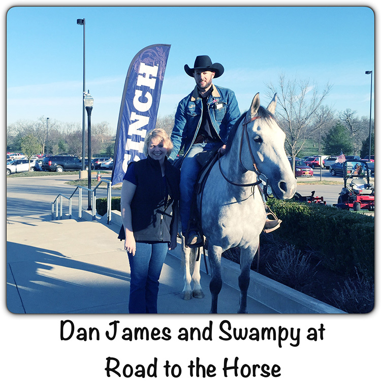 Photo of Horse Trainer Dan James on Swampy with Vickie Maris