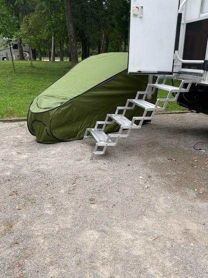 Camper Shower Stall - Don't let this happen!