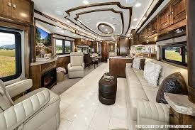 Inside view of Class A RV's and motorhome