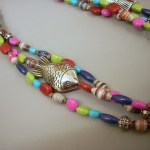 Mulit Strand Paper Bead Necklace