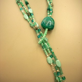 Aqua Lariat, Bead Soup and Mother's Day