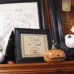 Thrifting Thursday – Vintage Needlework As Wall Art (and Halloween Decor)