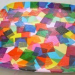 Confetti Party Tray with Mod Podge and Tissue Paper