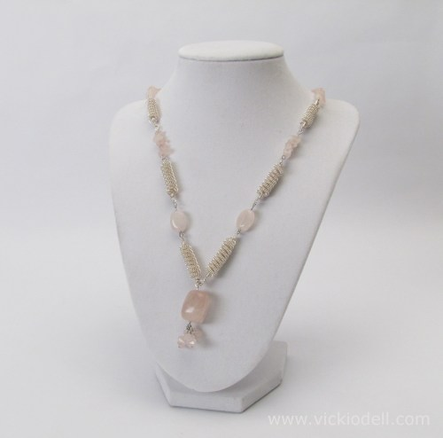 Make a Coiled Wire Bead and Rose Quartz Necklace with the Coiling Gizmo
