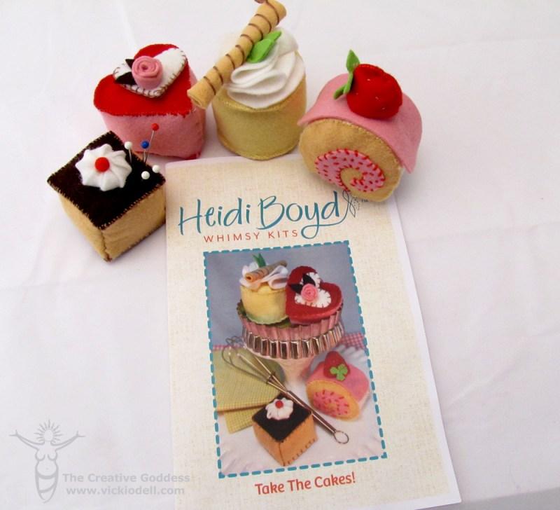Whimsical Cake Pin Cushions to Make