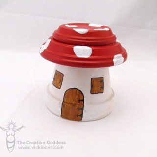 Clay Pot Fairy Garden House