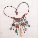 Copper and Roman Glass Necklace