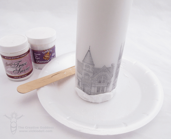 Dickens Inspired Village Tablescape