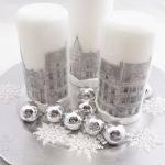 Dickens Inspired Candle Tablescape