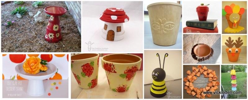 12 Clay Pot Crafts