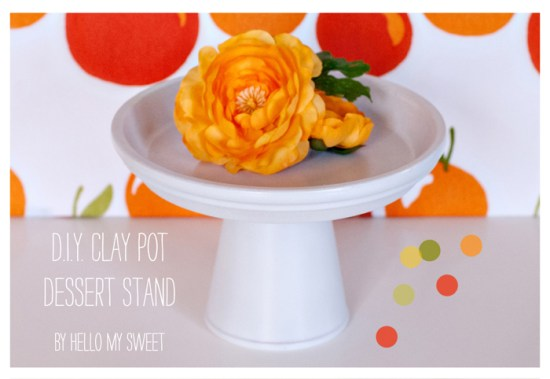 Clay Pot Cake Stands