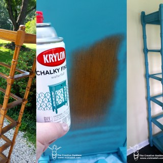 1980's Shelf Makeover with Krylon Chalky Finish