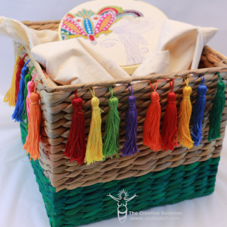 Colorful Embroidery Basket