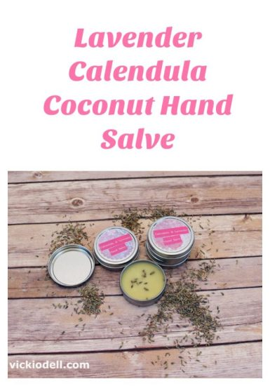 Lavender Calendula Coconut Hand Salve