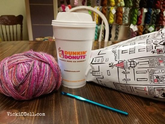 crochet - Coffee and Yarn at the Yarn Shop