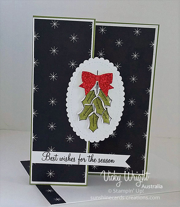 2017 Holiday Catalogue, Holly Berry Happiness, Merry Little christmas DSP, Free Tutorial, Vicky Wright, Stampin' Up!