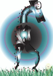 Rubberhead Girl Manipulated using Adobe Illustrator