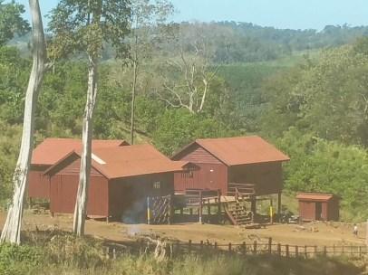 Roy school from a ridge