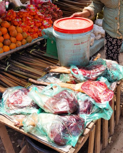 Venison for sale by the roadside