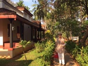In the gardens at Mantra, Kumbakonum