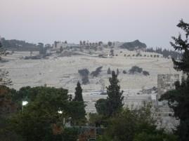Mount of Olives in the dusk