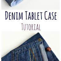 Upcycled Denim Tablet Case - Quick DIY Gift
