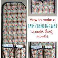 Sew your own baby changing mat in thirty minutes