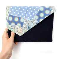 What to make with fabric scraps?? Free fabric scraps clutch tutorial