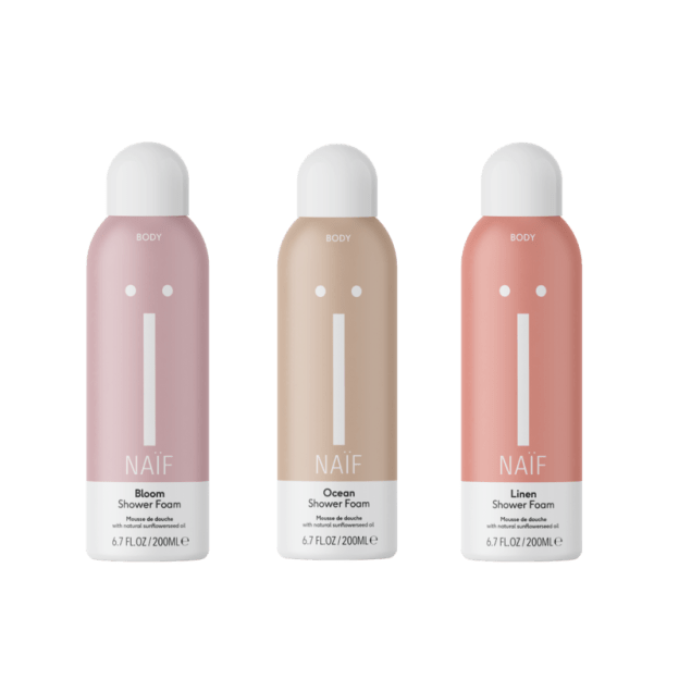 Triple shower pack