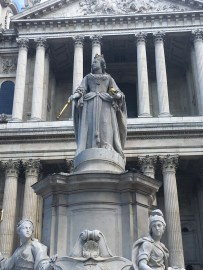 The Victoria statue in front of St. Paul's Cathedral