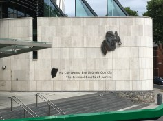 Like the sign for The Criminal Courts of Justice, all signs in Ireland are in Irish and English.